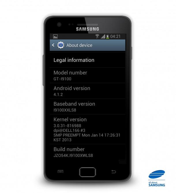 Nun gibt es Android 4.1.2 für das Samsung Galaxy S2. (Foto: AllAboutSamsung)