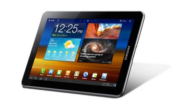 Das Samsung Galaxy Tab 7.7 kann nun auch mit Android 4.0 Ice Cream Sandwich betrieben werden. Foto: Samsung.