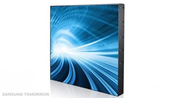 Mit dem stapelbaren Display von Samsung lassen sich relativ einfach riesige Videowände zusammensetzen. Foto: tech2in.com.