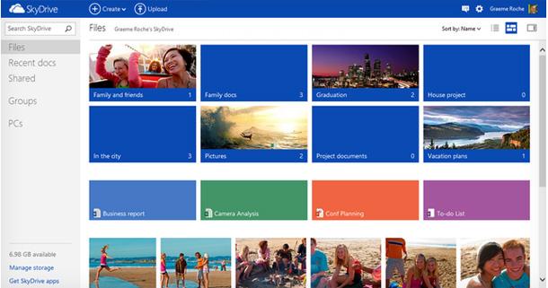 Microsoft hat die Online Version von Skydrive überarbeitet und bringt eine Android App für den Onlinespeicher. Foto: TheVerge.