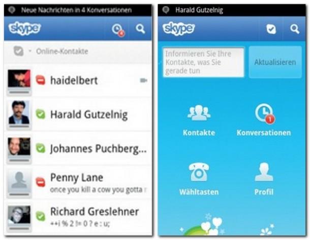 Skype: Der Klassiker nun auch für Android.