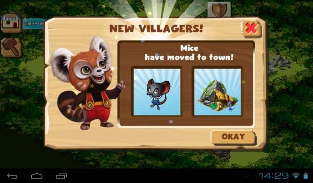Je mehr neue Bewohner sich ansiedeln, desto schneller wächst das Dorf.