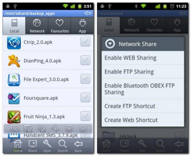 Die Standardfunktionen beherrscht File Expert aus dem FF. Dateitransfer per WiFi, Bluetooth oder gar NFC? File Expert ist ein Multitalent.