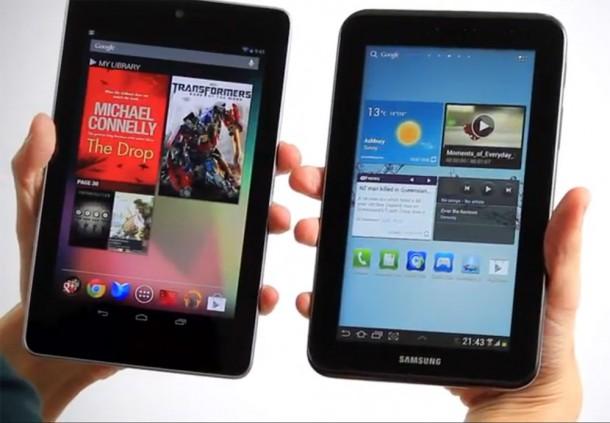 Das Google Nexus 7 ist um ca. 100 Euro günstiger als das Galaxy Tab 2. Foto: Youtube.com