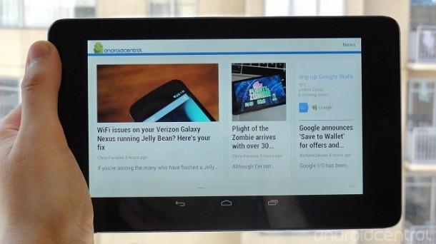 Google Currents ist auf dem Android 4.1 Jelly Bean Betriebssystem schon vorinstalliert. Foto: Androidcentral.com.
