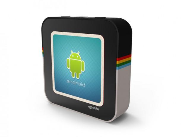 Der Instacube läuft mit Android Betriebssystem und dient zur Anzeige von Fotos. Foto: Kickstarter.