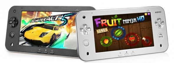 Eine perfekte Kombination aus Tablet und Spielekonsole für Apple-Games, Android-Games, Sony-Games,  Nintendo-Games, Arcade-Games und Sega-Games - so wirbt JXD für das S7100.