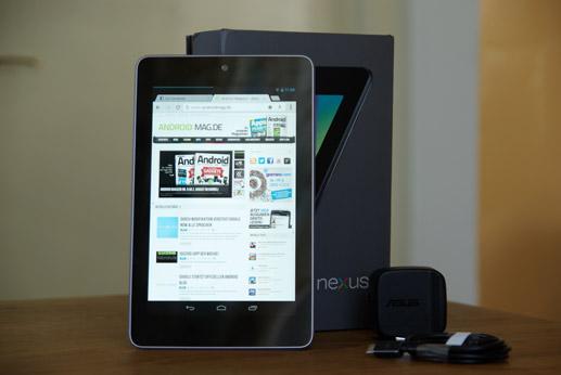 Das Nexus 7 machte mit günstigen Preis und guter Ausstattung die Kategorie der 7 Zoll Tablets populär (Bild: Androidmag.de)