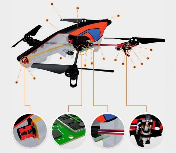Präzise Steuerung und HD Videos zeichnen den Quadcopter AR-Drone 2.0 aus (Foto: Parrot)