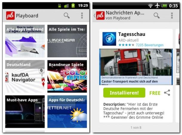 Playboard sortiert die Apps des Play Stores in nützliche Kategorien und Unterkategorien.