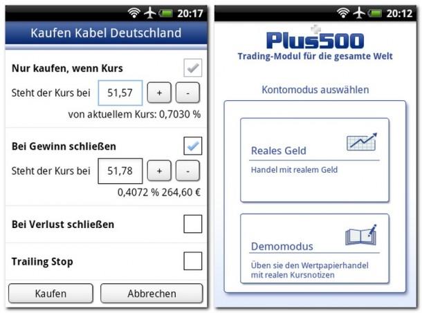 Wenn man weiß, was man tut, dann ist diese App ein willkommenes Werkzeug, um vom Handy aus Spekulationsgeschäfte zu erledigen.