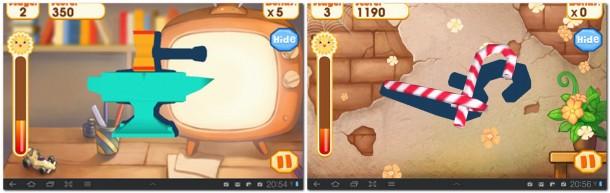 Ziel ist es die Objekte so zu drehen dass der Schatten dazupasst. Im klassischen Modus stehen fünf Levels mit je 25 Aufgaben bereit, wobei man sich höhere Levels erst einmal freispielen muss.