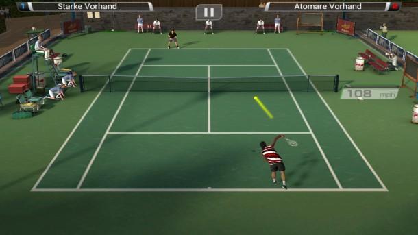 Mit Virtua Tennis Challenge schmettern Sie den Gegnern die Bälle virtuell um die Ohren.