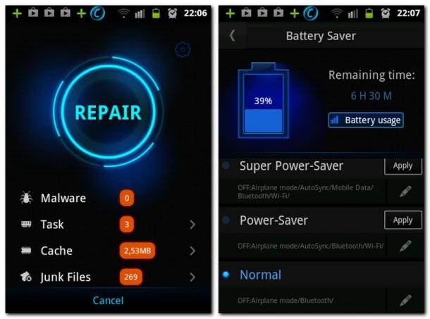 Die App schützt Ihr Smartphone oder Tablet vor Malware und löschten den Cache sowie unnütze Junk Files.