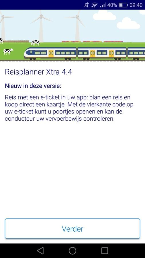 Koop NS Reisplanner treinkaartjes via de Android-app