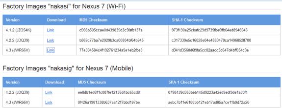 Nexus 7 4.3 Update