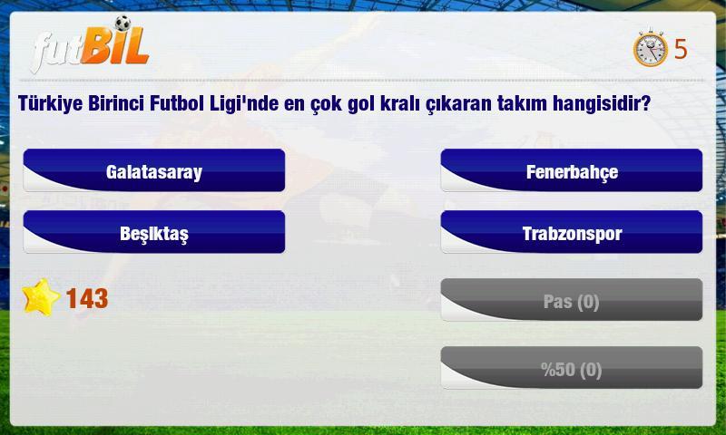 futBİL - Futbol Bilgi Yarışması - Andropedi