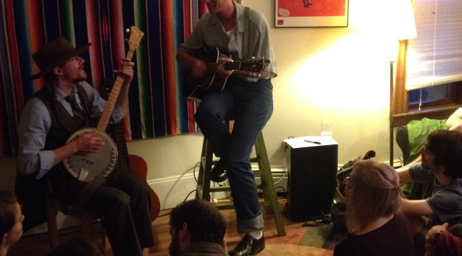 Orchard Street House Concert (Boston, MA) with Tom Brosseau — live recording and photo