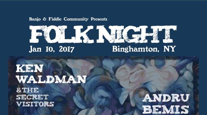 Folk Night (Binghamton, NY) — poster by Paul Koanui