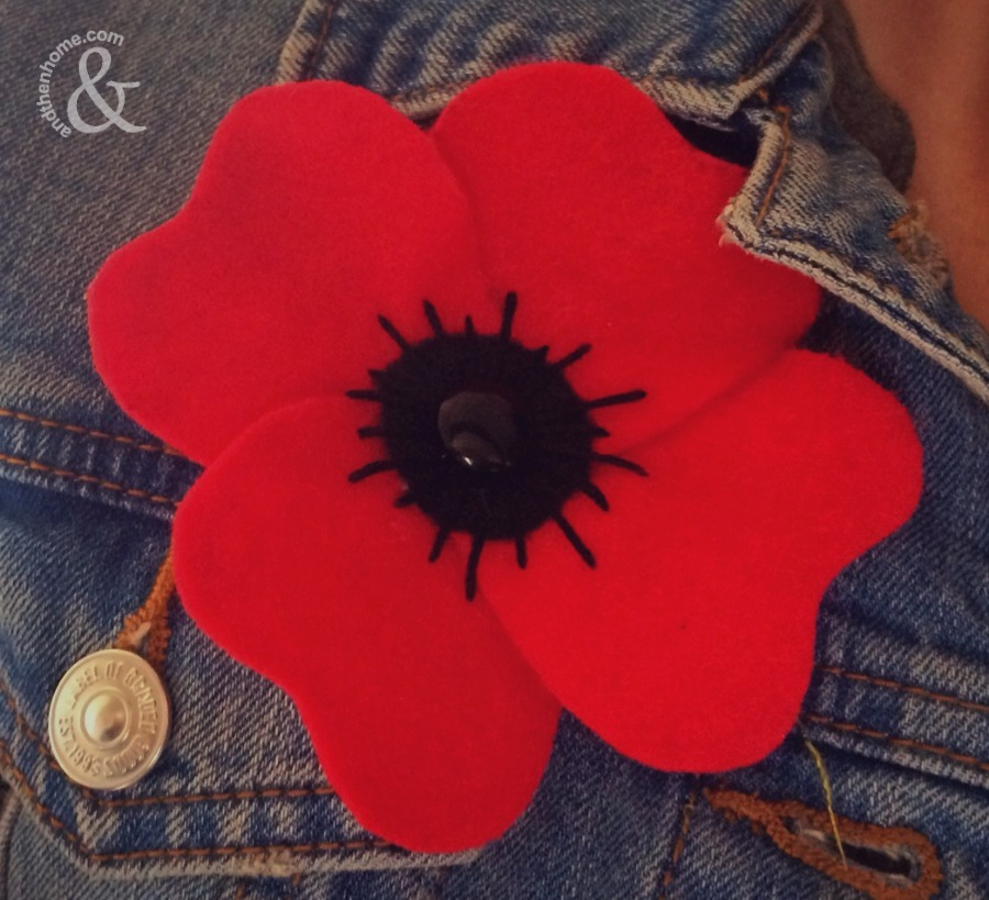 How to Make a Reusable Felt Poppy - And Then Home