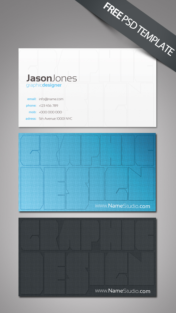 40+ Best FREE Business Card Templates in PSD File Format