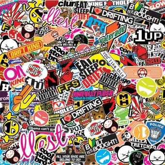 60 epic stickerbombs amp geeky jdm sticker decals japanese