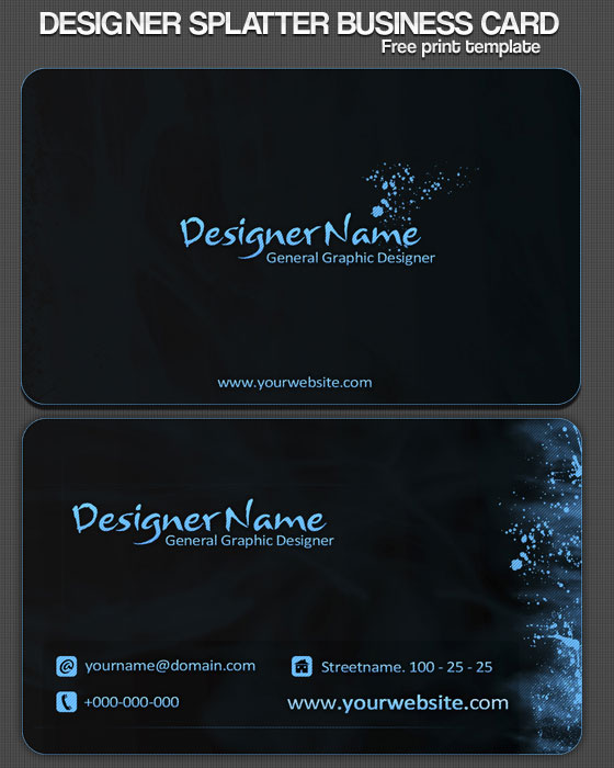 40+ Best FREE Business Card Templates in PSD File Format - name card format