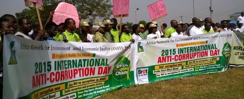 World Anti-Corruption Day: ANEEJ Urges Buhari to Break the Corruption Chain in Nigeria