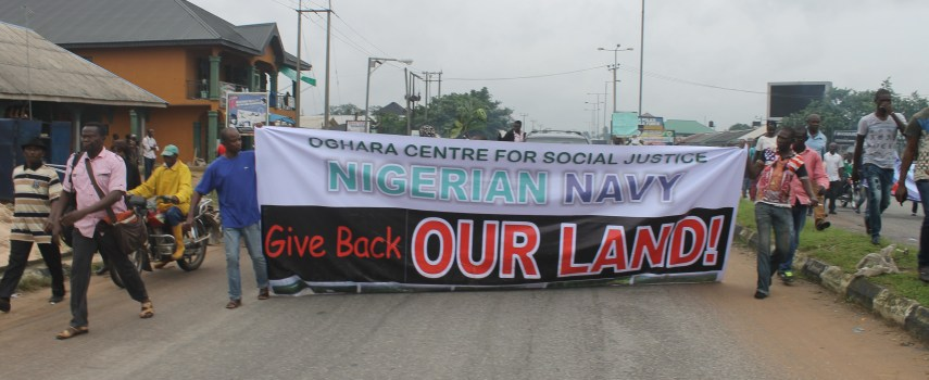 NIGERIAN NAVY, RETURN OUR LANDS, OGHARA RESIDENTS DEMAND…!