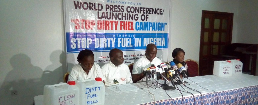 BEING A WORLD PRESS CONFERENCE BY THE AFRICA NETWORK FOR ENVIRONMENT AND ECONOMIC JUSTICE, ANEEJ, ON THE LAUNCH OF THE STOP DIRTY FUEL CAMPAIGN, IN COLLABORATION WITH PUBLIC EYE SWITZERLAND