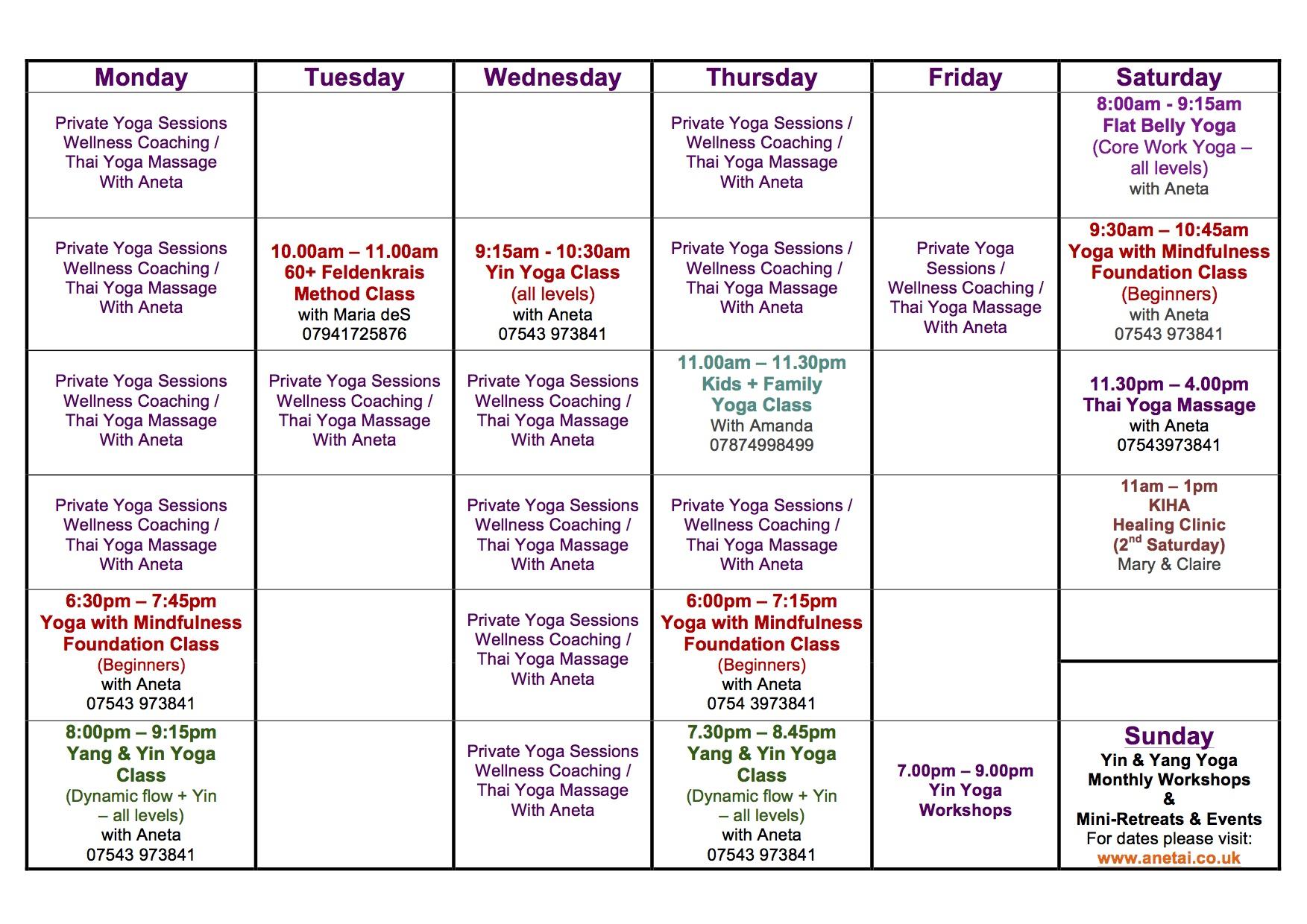 May 2018 Timetable Studio Anetai Copy