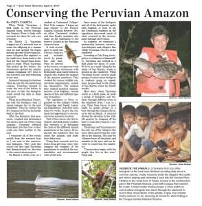 Conserving the Peruvian Amazon