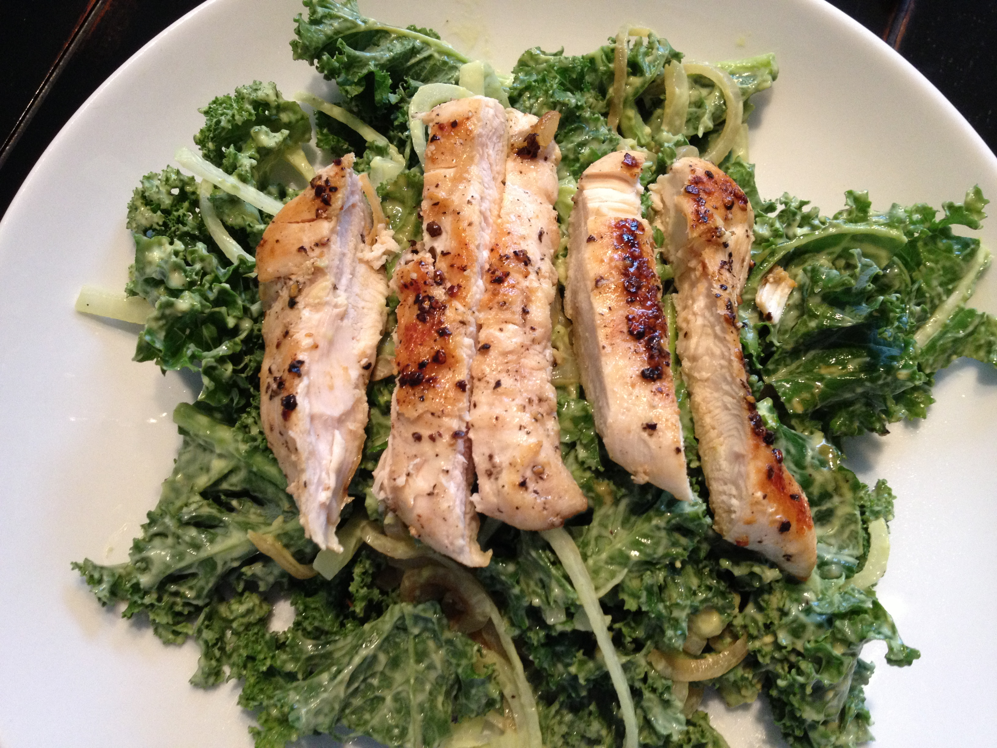 Chicken Kale Avocado Salad