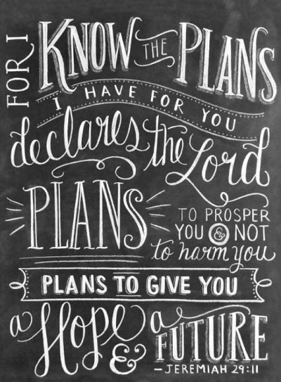 "Jeremiah 29:11 ""For I Know The Plans I Have For You"""