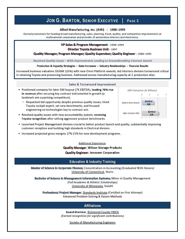 Award-Winning CEO  Board Advisor Sample Resume Executive Resume