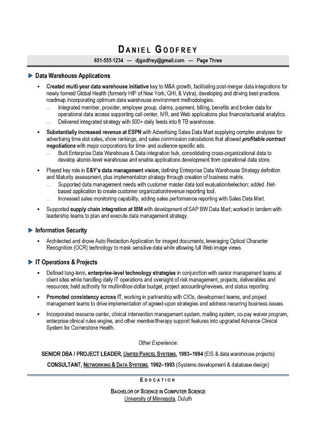 CIO  CTO Sample Resume by Award-Winning Executive Resume Writer for - cto sample resume
