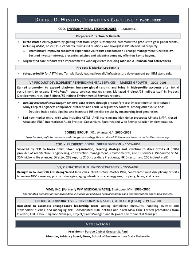 Best Executive Resume Writer Sample Resume COO  GM - Resume