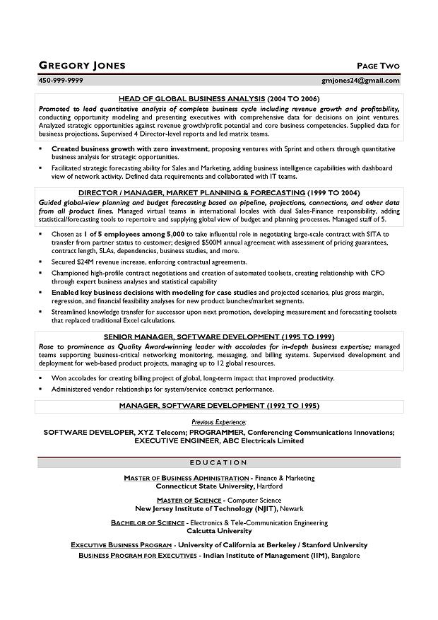 CFO Sample Resume - Executive resume writer Chicago, Houston, San