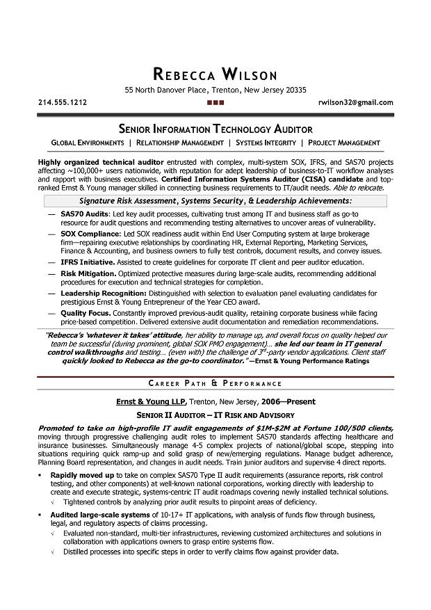 sample audit resume - Goalgoodwinmetals