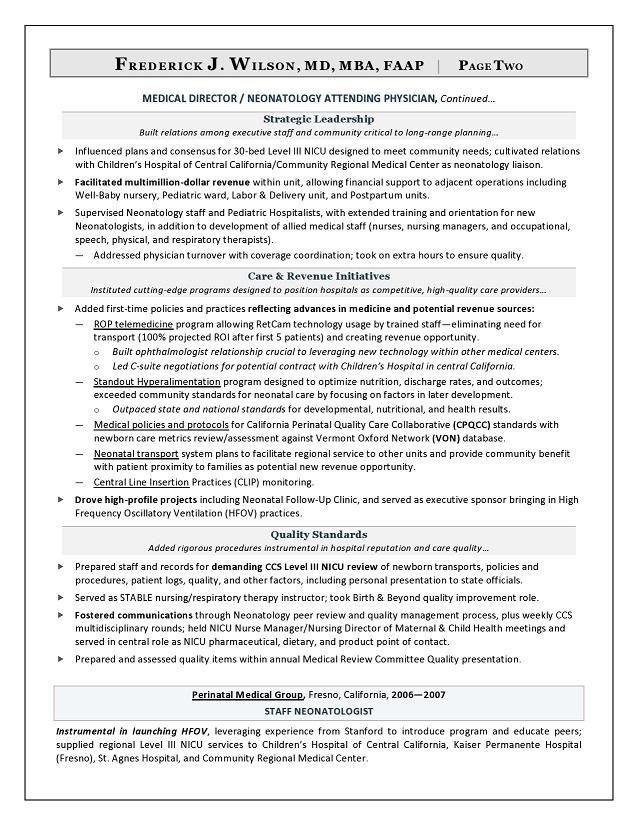 cno resume examples