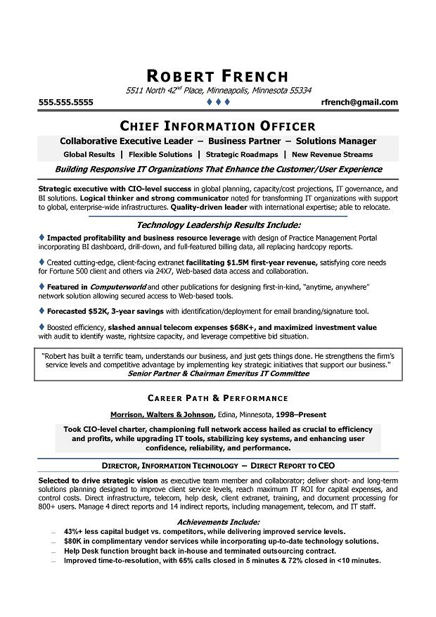 best cio resumes - Maggilocustdesign
