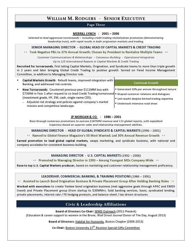 2017 Resume Trends, Award Winning Executive Resume by Resume Writer - Winning Resume Sample