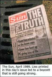 The Sun is now boycotted by Reds fans