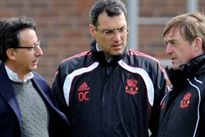 Dalglish and Comolli with Tom Werner