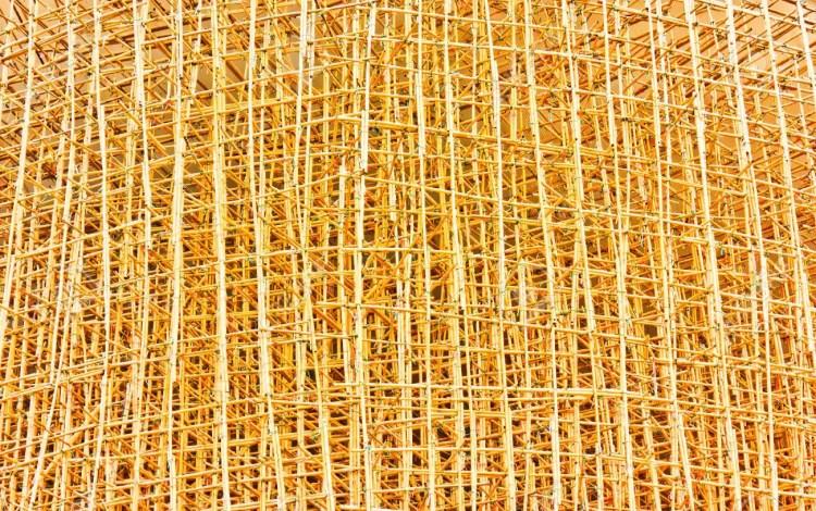 Andamiso de bambú en Hong Kong