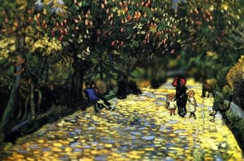 Van Gogh con efecto tilt-shift