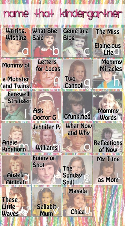 Name That Kindergartner Answers