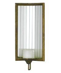 Refracting mirrored candle sconce