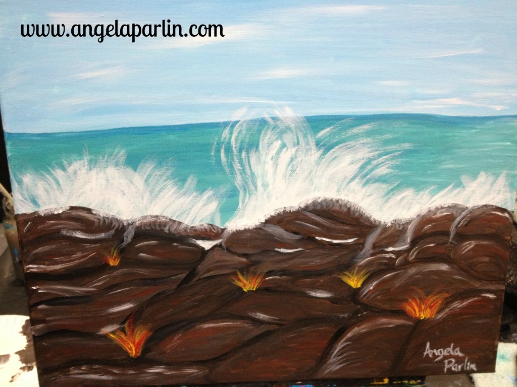 painting waves