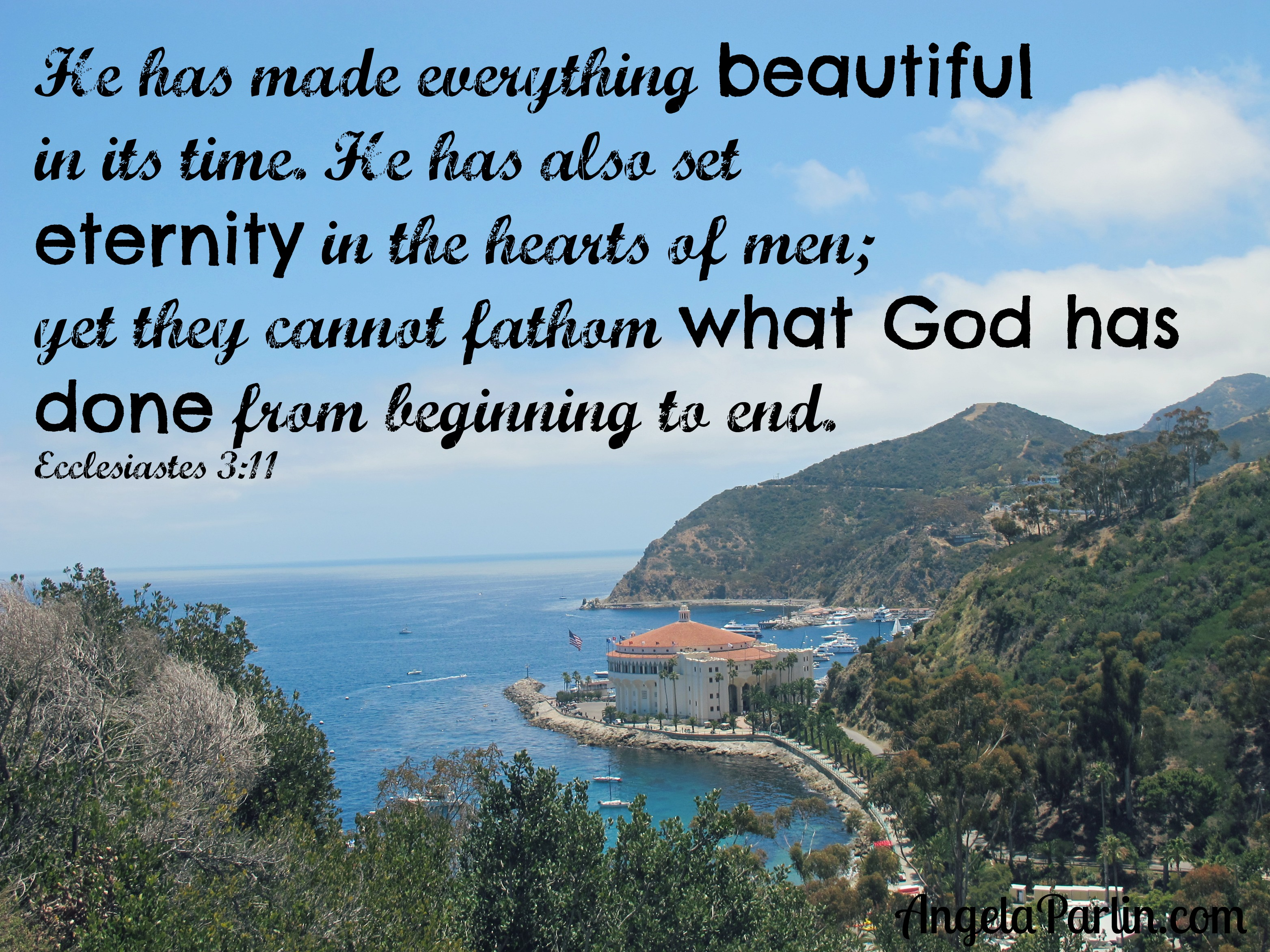 beautiful in its time eternity